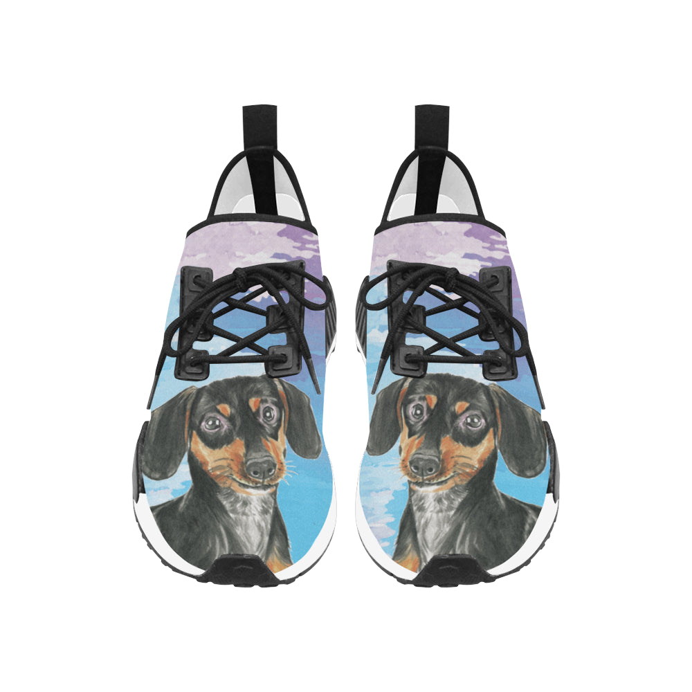 Dachshund Water Colour No.1 Men's Draco Running Shoes - TeeAmazing