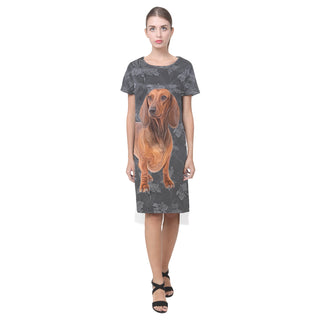 Dachshund Lover Short Sleeves Casual Dress - TeeAmazing