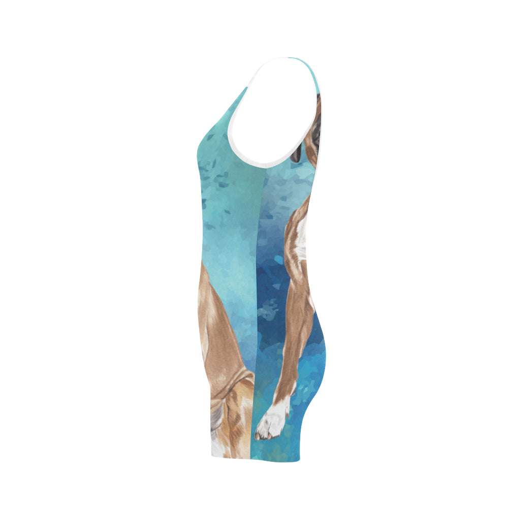 Boxer Water Colour Classic One Piece Swimwear - TeeAmazing