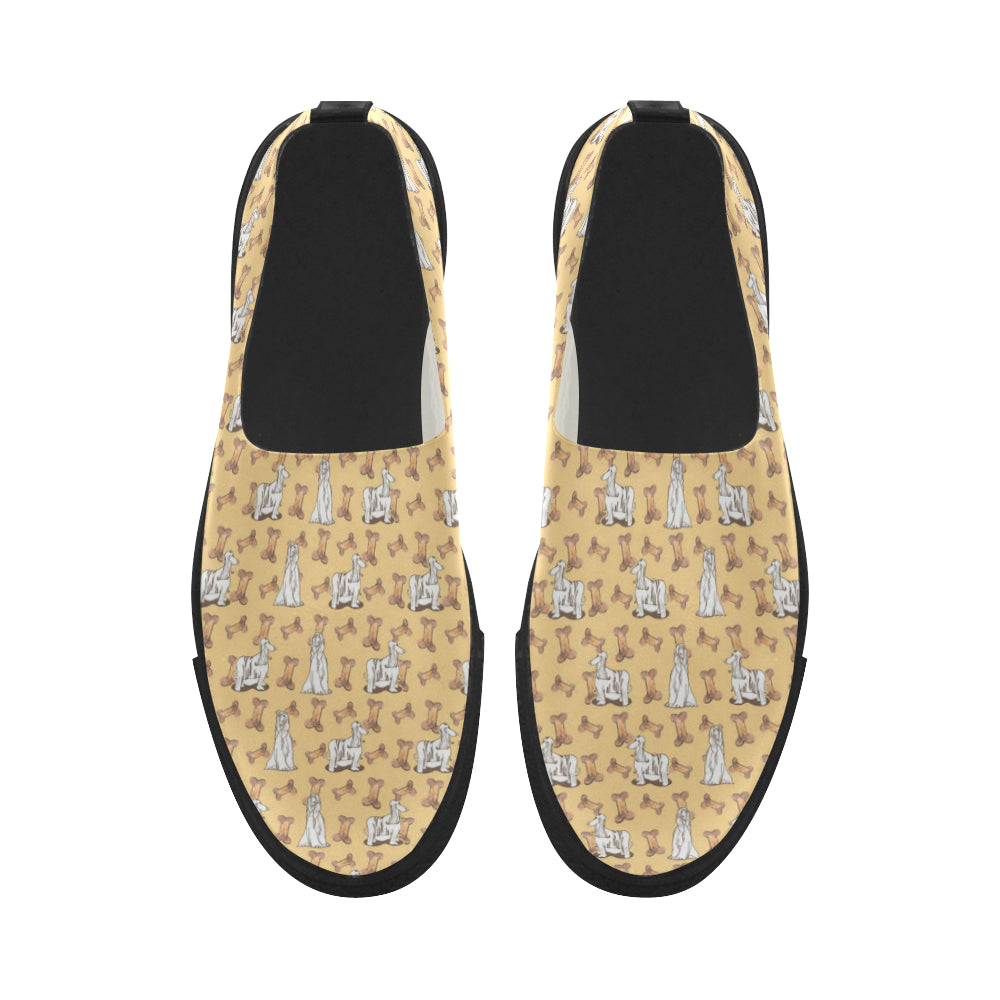 Afghan Hound Pattern Apus Slip-on Microfiber Women's Shoes - TeeAmazing