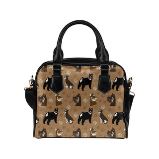 Miniature Schnauzer Pattern Shoulder Handbag - TeeAmazing