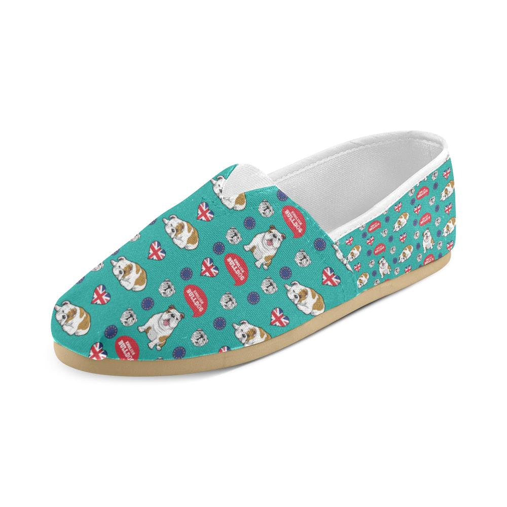 English Bulldog Women's Casual Shoes - TeeAmazing