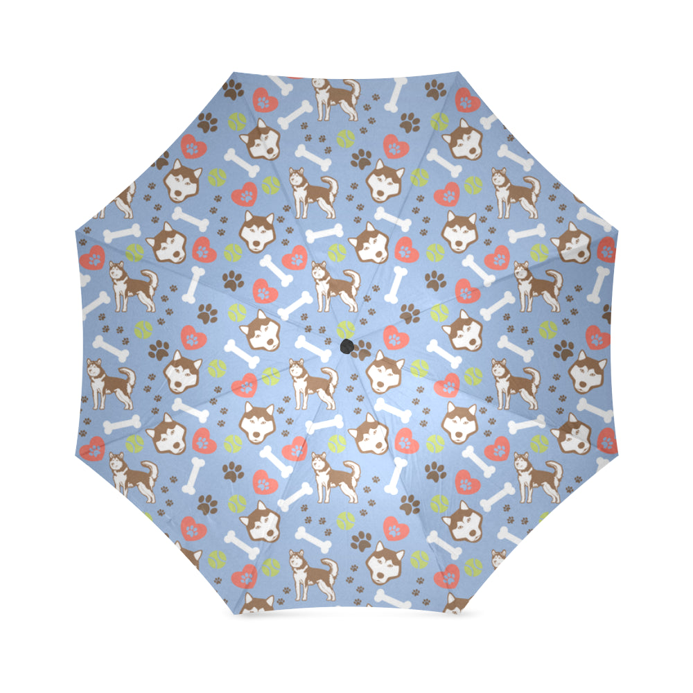 Alaskan Malamute Pattern Foldable Umbrella - TeeAmazing
