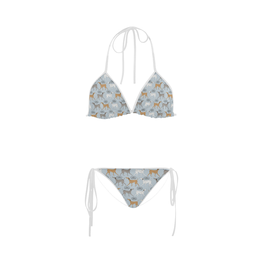 Italian Greyhound Pattern Custom Bikini Swimsuit - TeeAmazing