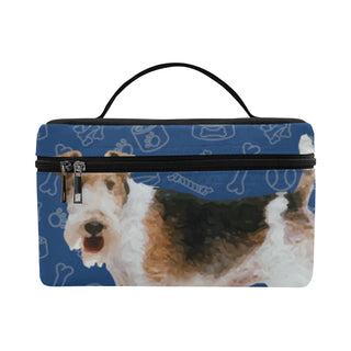 Wire Hair Fox Terrier Dog Cosmetic Bag/Large - TeeAmazing