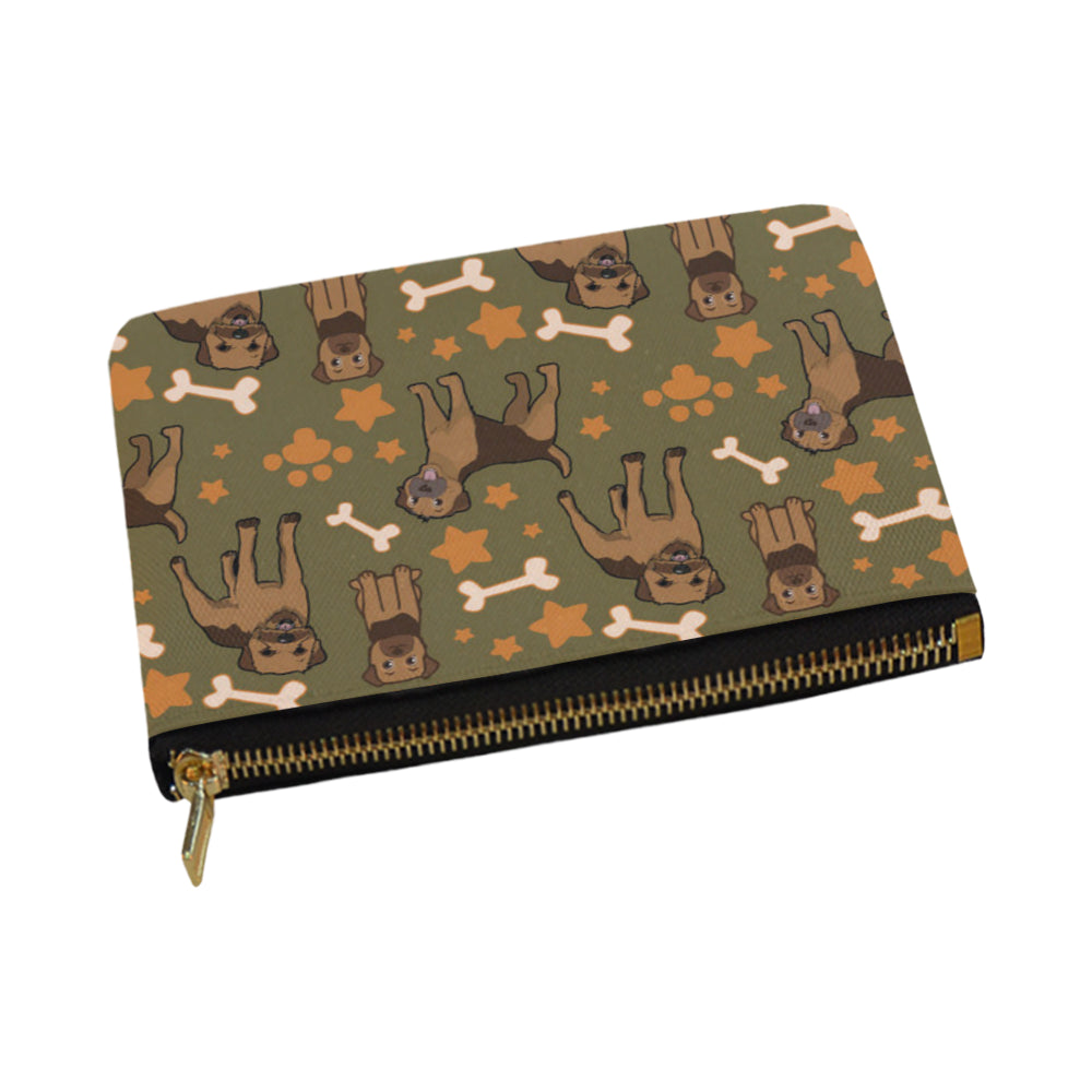 Border Terrier Pattern Carry-All Pouch 12.5x8.5 - TeeAmazing