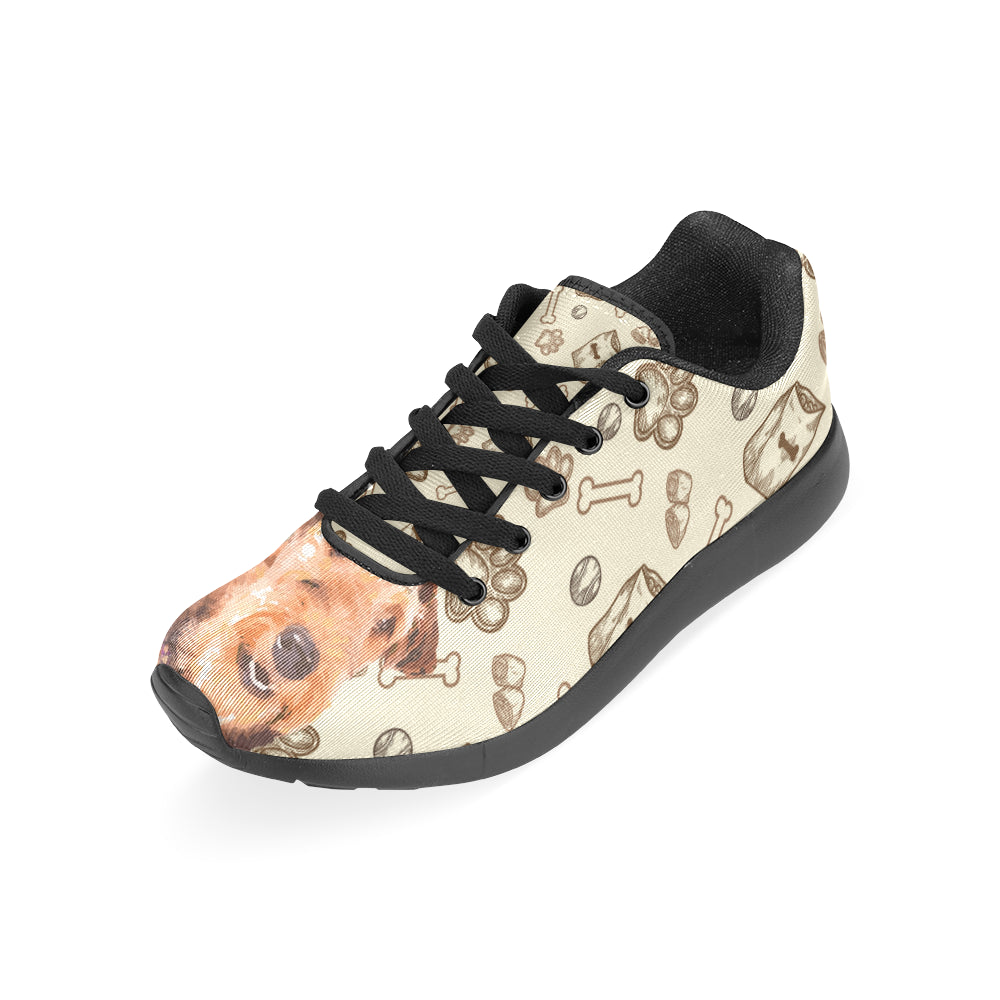 Airedale Terrier Black Sneakers for Men - TeeAmazing