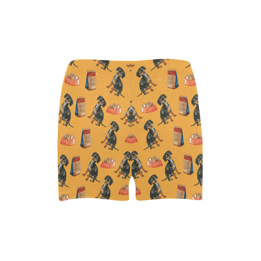 Dachshund Water Colour Pattern No.1 Briseis Skinny Shorts - TeeAmazing