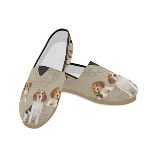 Beagle Lover Women's Casual Shoes (Model 004) - TeeAmazing