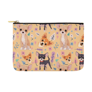 Chihuahua Flower Carry-All Pouch 12.5''x8.5'' - TeeAmazing