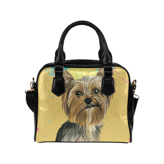 Yorkshire Terrier Water Colour No.1 Shoulder Handbag - TeeAmazing