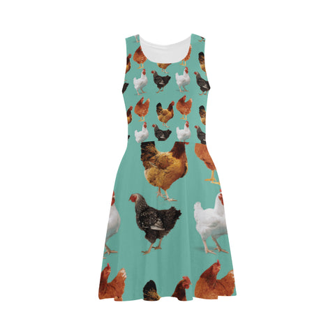 Chicken Pattern Atalanta Sundress - TeeAmazing