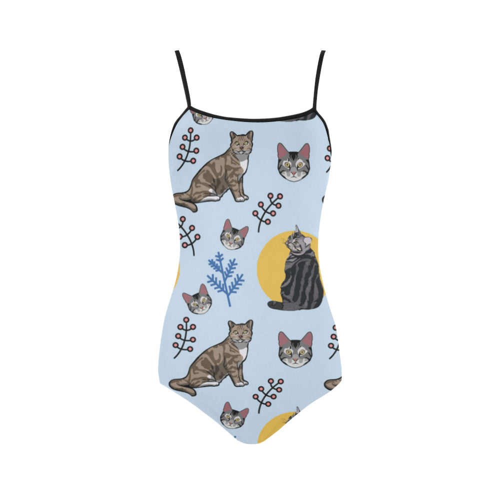 American Shorthair Strap Swimsuit - TeeAmazing