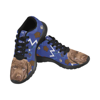 Chesapeake Bay Retriever Dog Black Sneakers for Women - TeeAmazing
