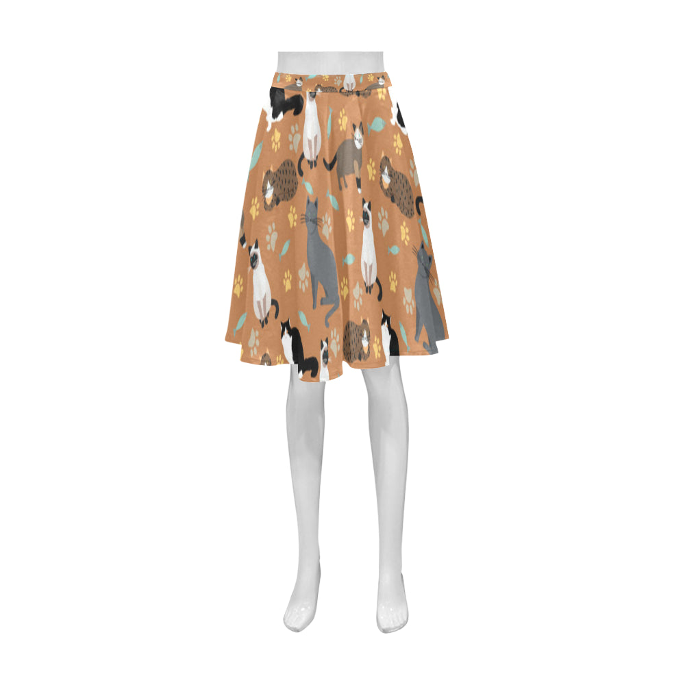 Cat Pattern Athena Women's Short Skirt - TeeAmazing