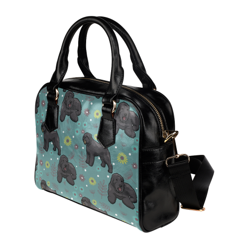 Bouviers Flower Shoulder Handbag (Model 1634) - TeeAmazing