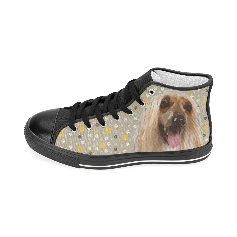 Afghan Hound Black Men's Classic High Top Canvas Shoes - TeeAmazing