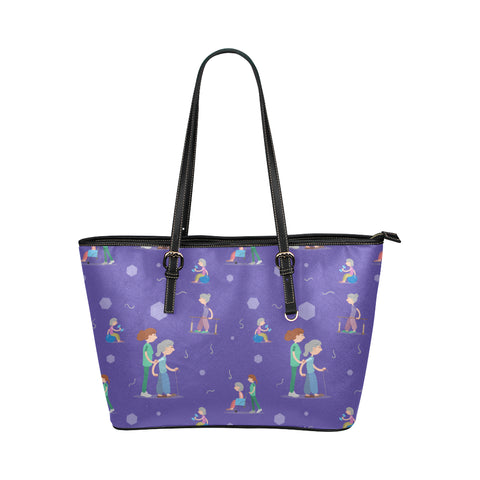 7be46e6671 Physical Therapist Pattern Leather Tote Bag Small