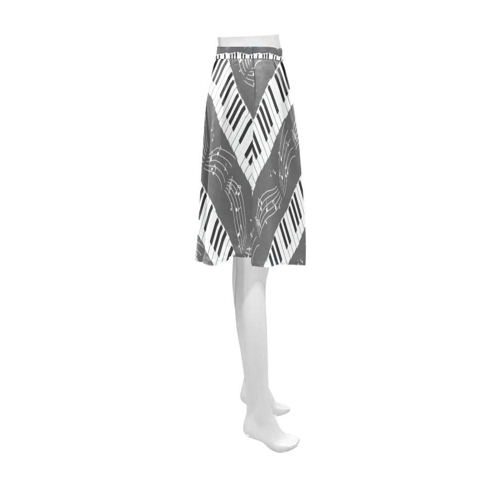 Piano Pattern Athena Women's Short Skirt - TeeAmazing