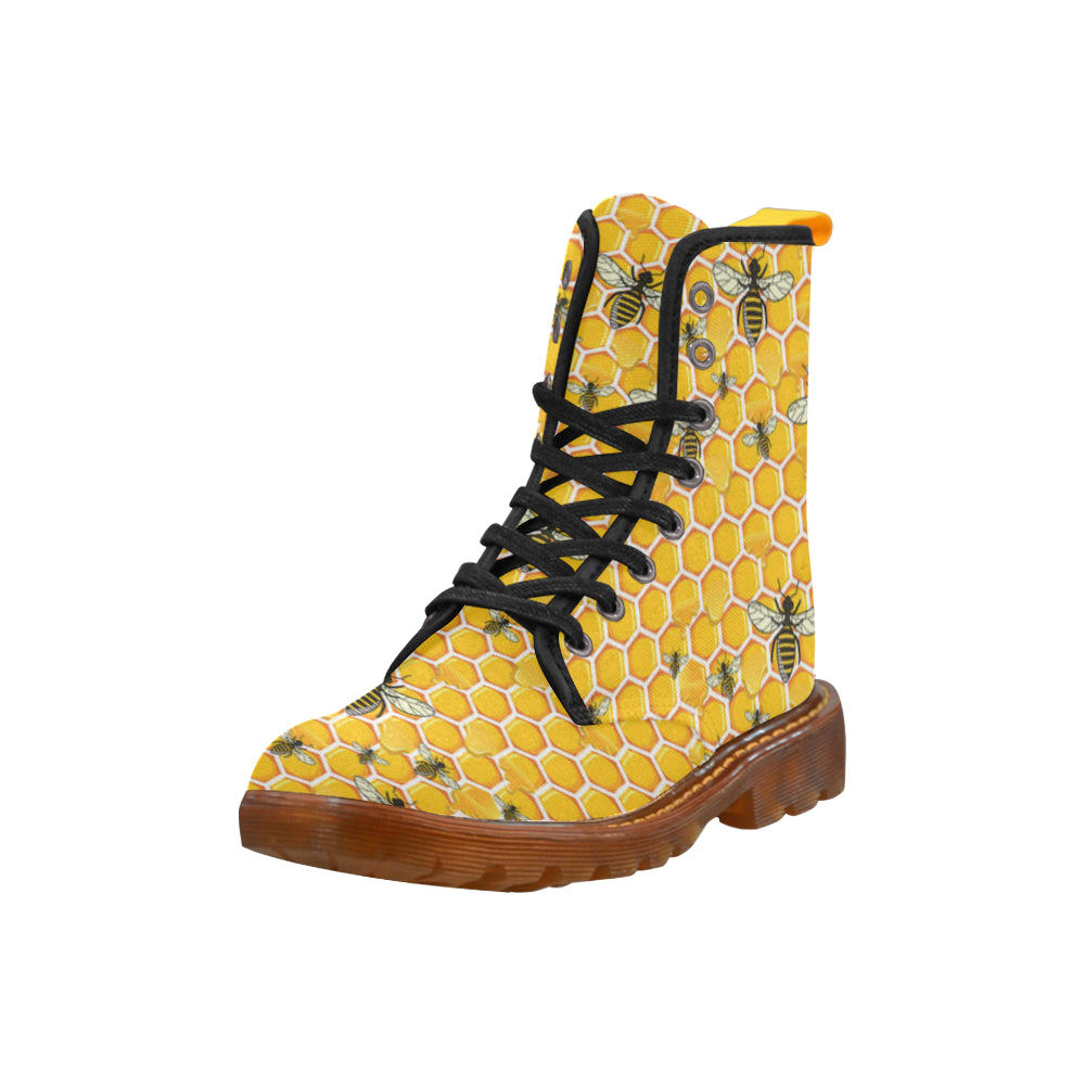 Bee Black Boots For Women - TeeAmazing
