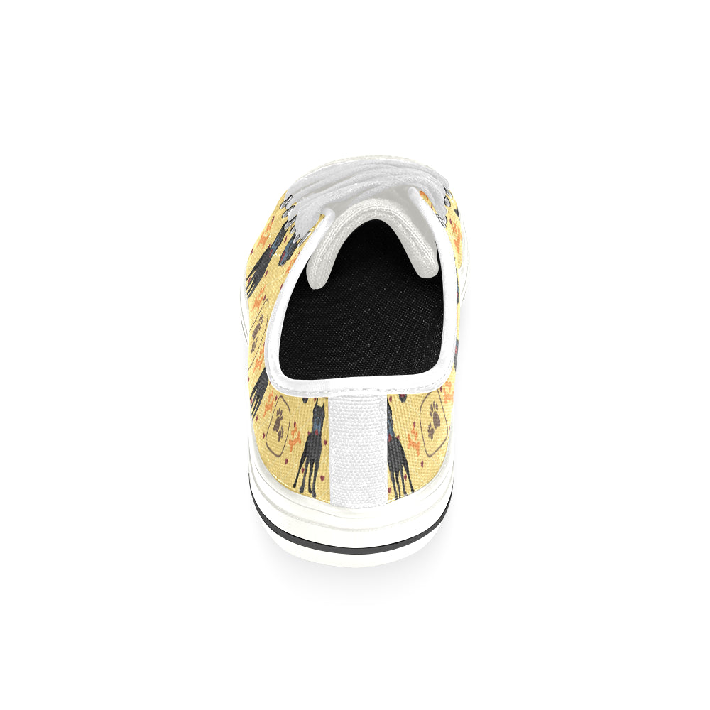Cane Corso Pattern White Low Top Canvas Shoes for Kid - TeeAmazing