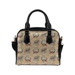 Pitbull Pattern Shoulder Handbag - TeeAmazing