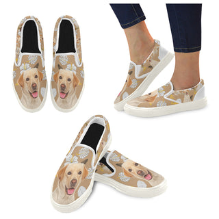 Labrador Retriever Lover White Women's Slip-on Canvas Shoes