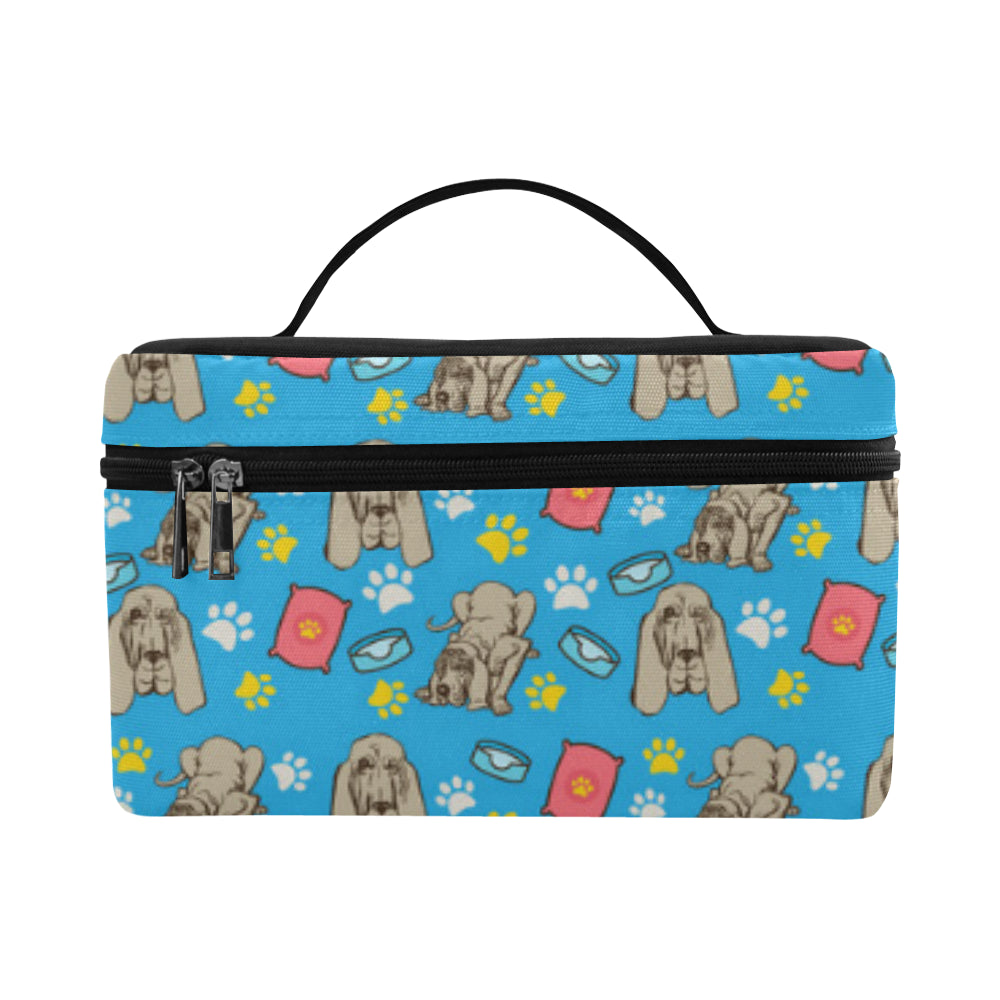 Bloodhound Pattern Cosmetic Bag/Large - TeeAmazing