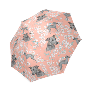 Italian Greyhound Flower Foldable Umbrella - TeeAmazing