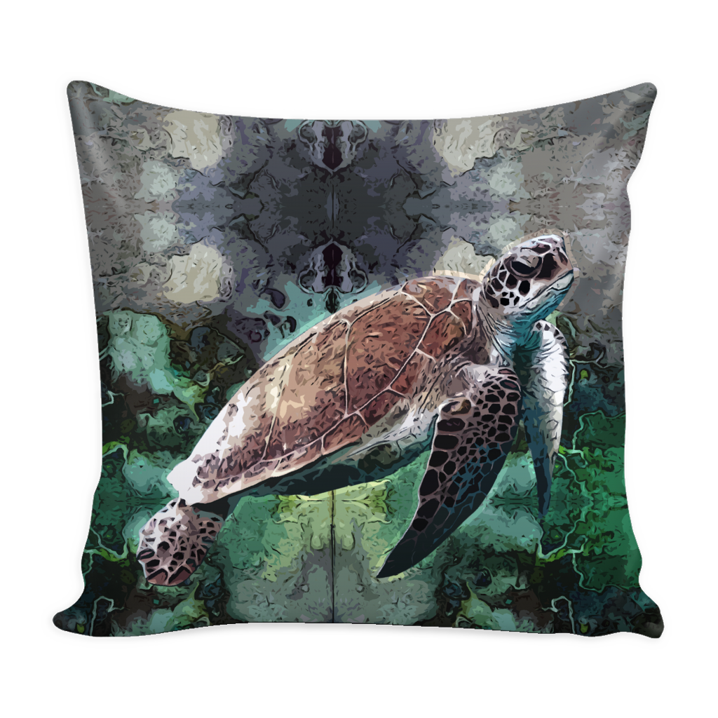 Turtle Pillow Cover - Turtle Accessories - TeeAmazing