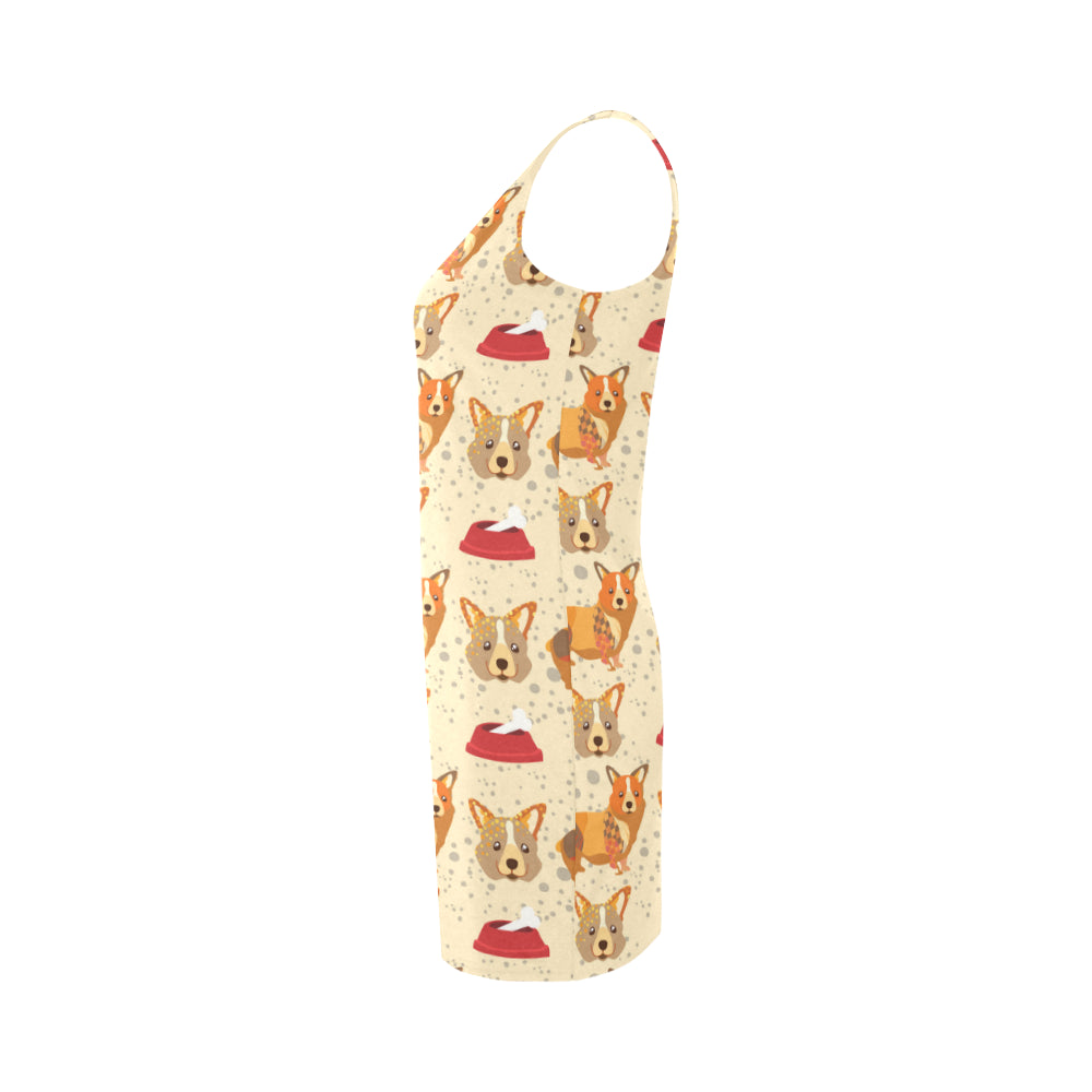 Corgi Pattern Medea Vest Dress - TeeAmazing