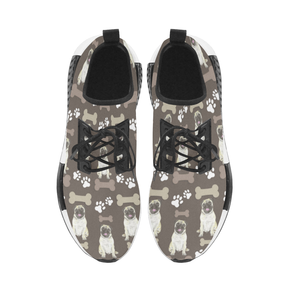 Pug Water Colour Pattern No.1 Women's Draco Running Shoes - TeeAmazing