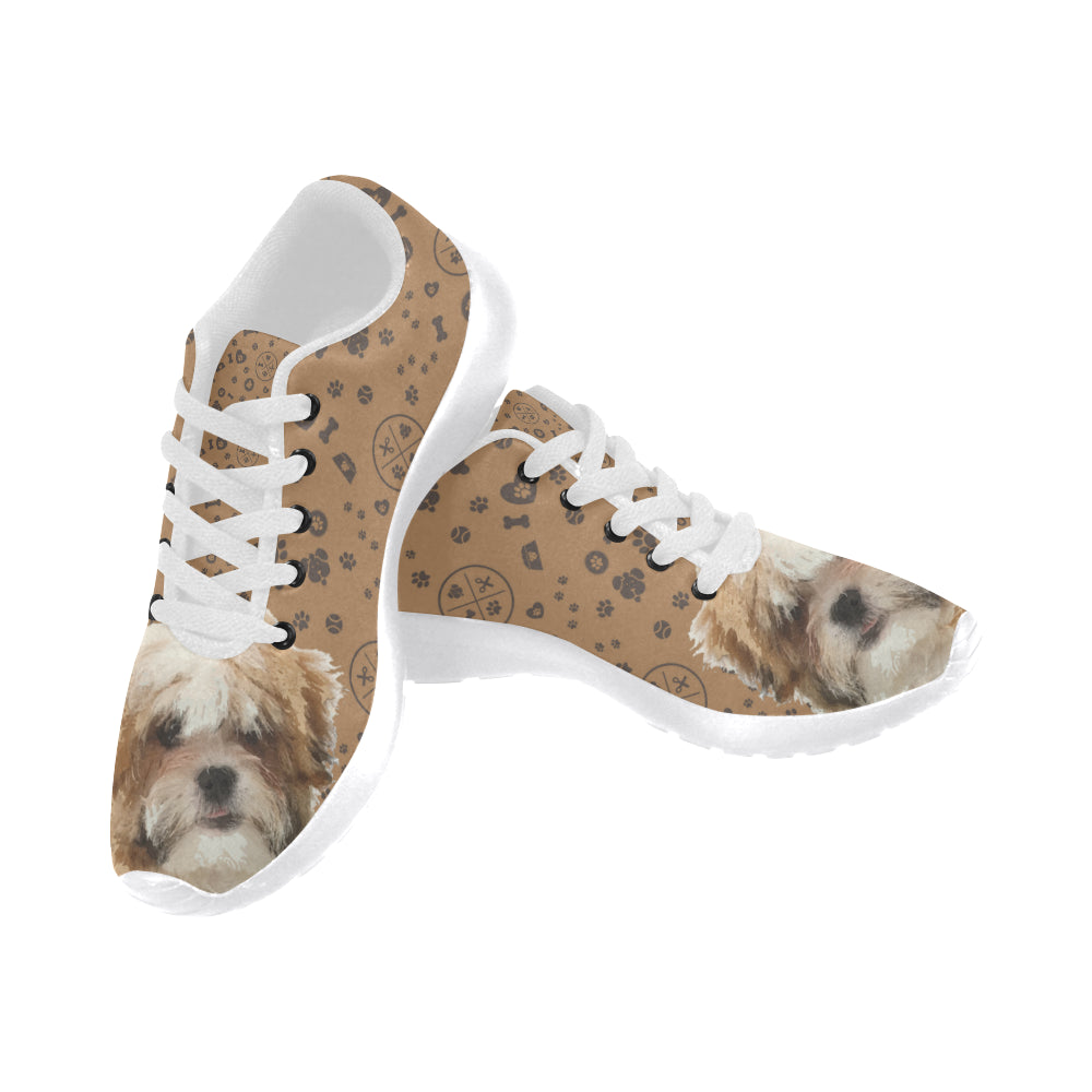 Maltese Shih Tzu Dog White Sneakers Size 13-15 for Men - TeeAmazing