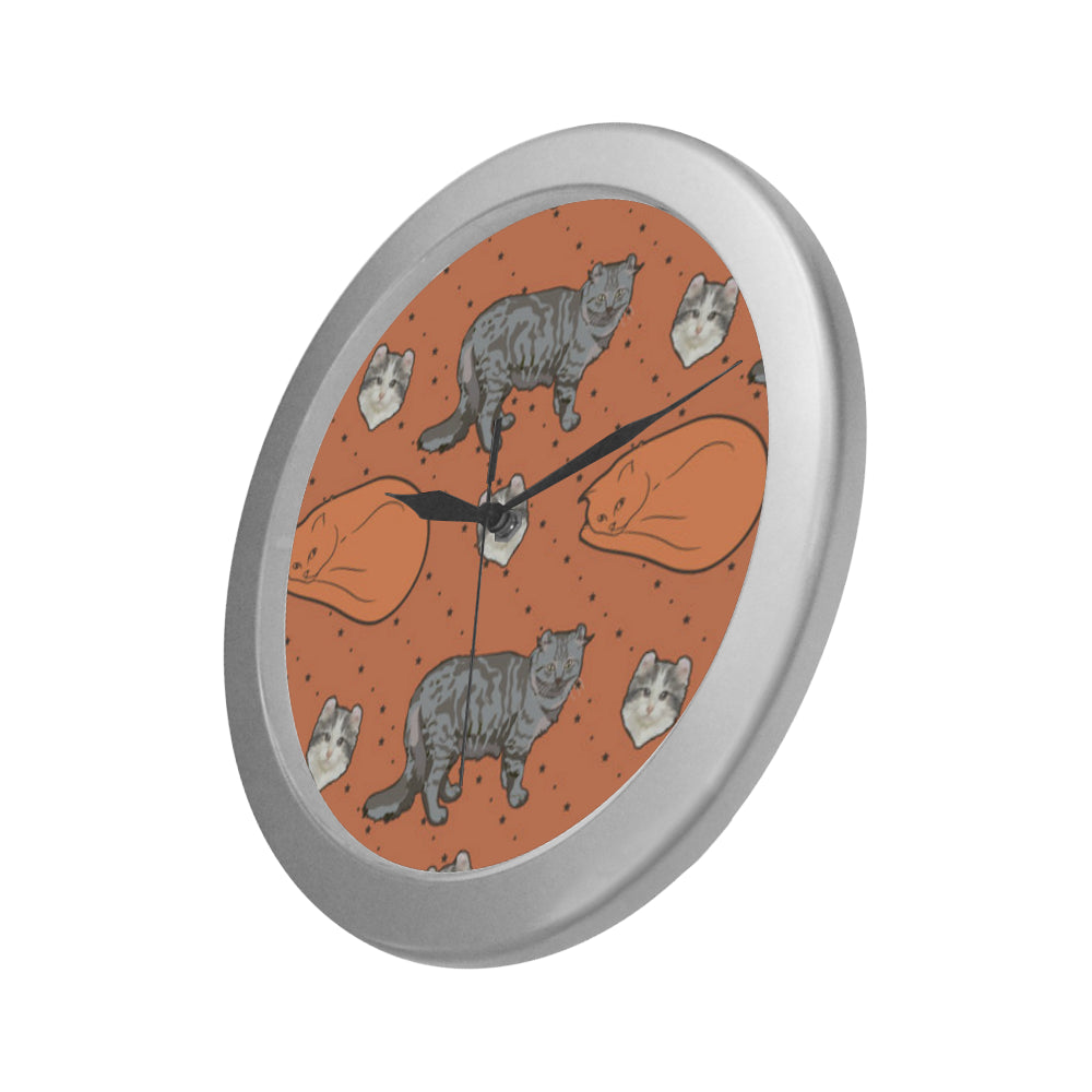 American Curl Silver Color Wall Clock - TeeAmazing