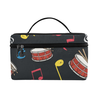 Snare Drum Pattern Cosmetic Bag/Large - TeeAmazing
