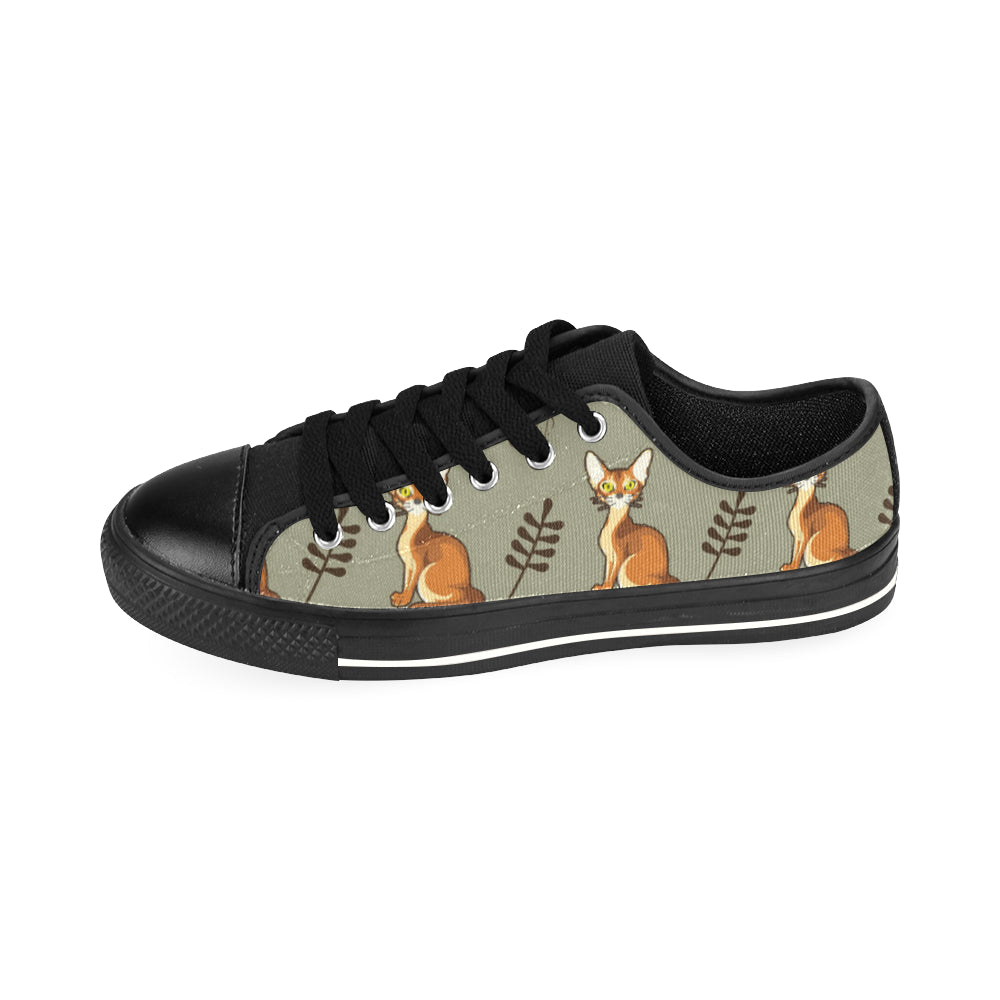 Abyssinian Black Men's Classic Canvas Shoes/Large Size - TeeAmazing