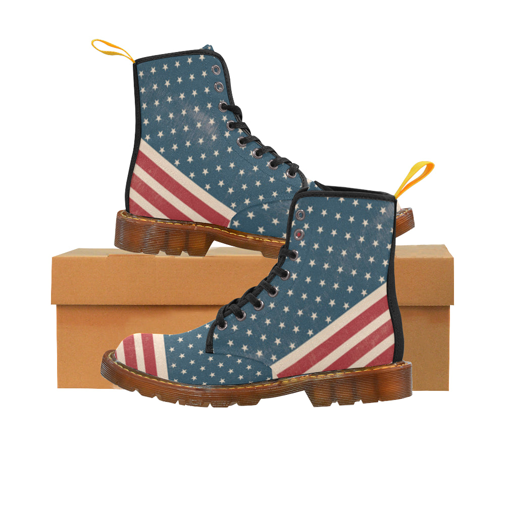 4th July V2 Black Boots For Men - TeeAmazing