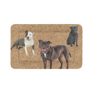 "Staffordshire Bull Terrier Lover Dog Beds 48""x30"" - TeeAmazing"