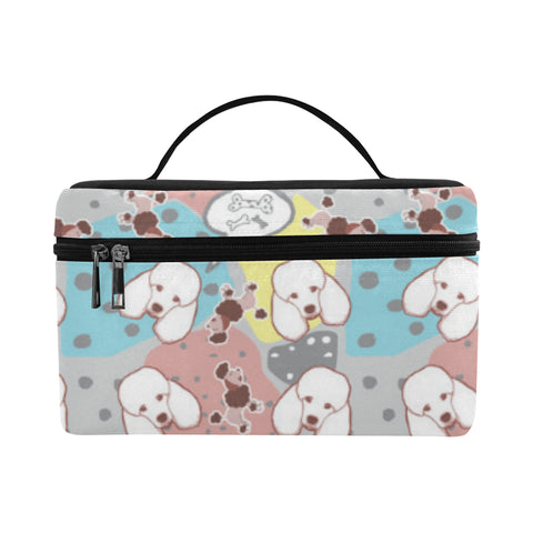 Poodle Pattern Cosmetic Bag/Large - TeeAmazing