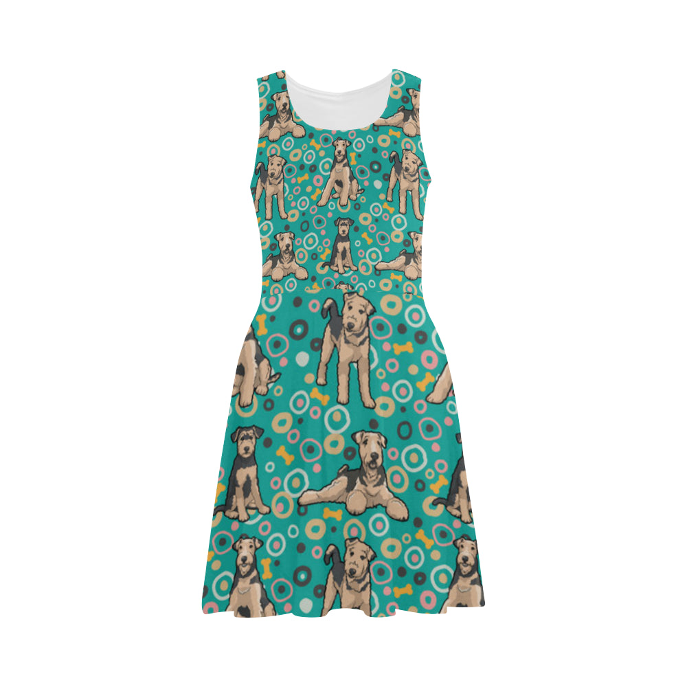 Airedale Terrier Pattern Atalanta Sundress - TeeAmazing