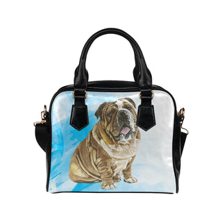 English Bulldog Water Colour No.1 Shoulder Handbag - TeeAmazing