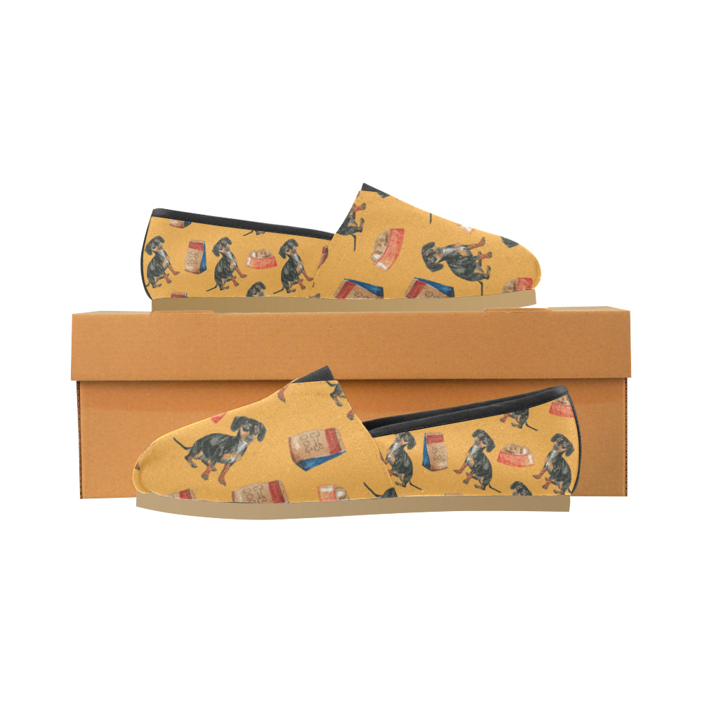 Dachshund Water Colour Pattern No.1 Women's Casual Shoes - TeeAmazing