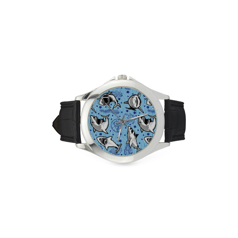 Shark Women's Classic Leather Strap Watch - TeeAmazing