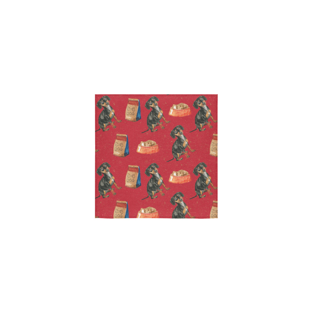 Dachshund Water Colour Pattern No.2 Square Towel 13x13 - TeeAmazing