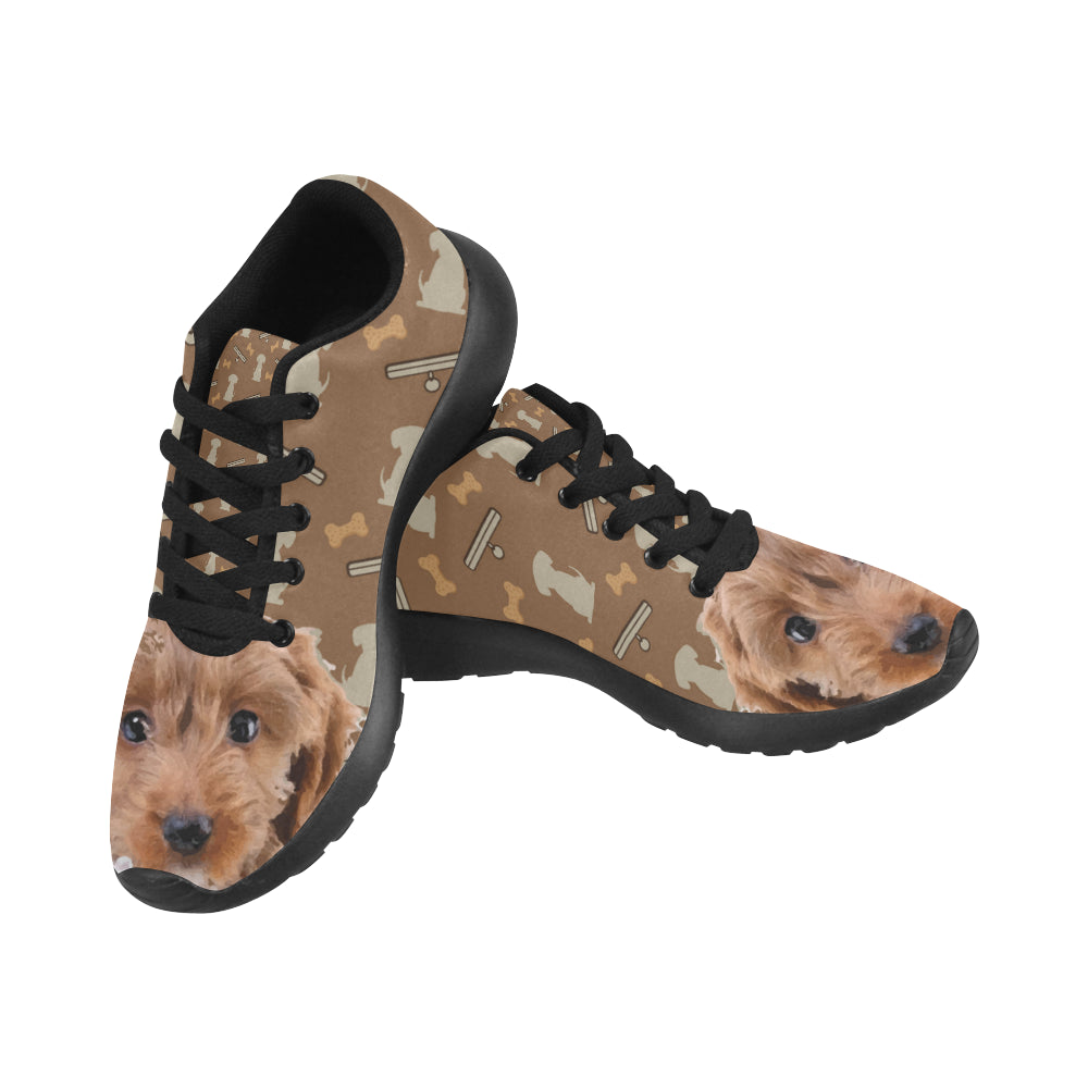 Cockapoo Dog Black Sneakers for Women - TeeAmazing