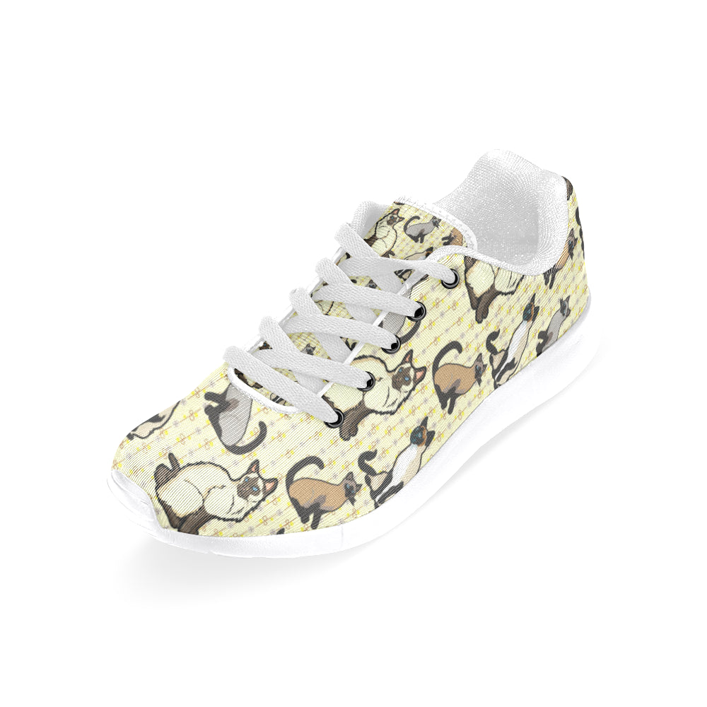 Siamese White Sneakers for Women - TeeAmazing