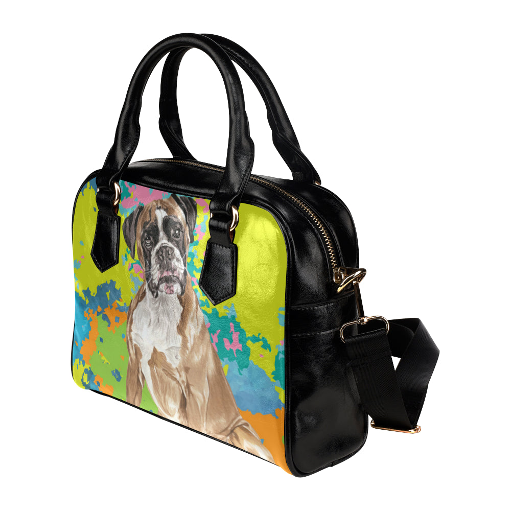 Boxer Water Colour No.2 Shoulder Handbag - TeeAmazing