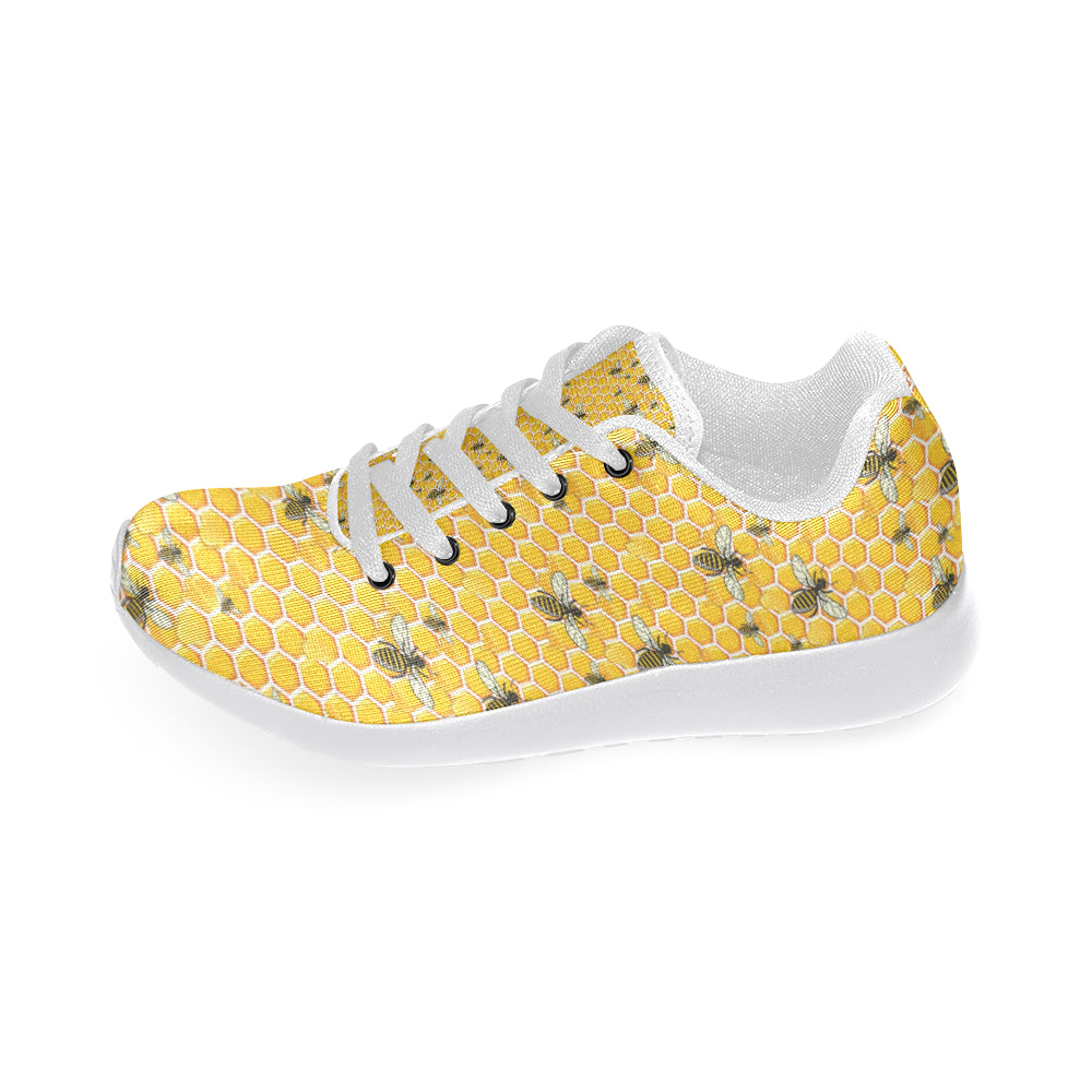 Bee White Sneakers Size 13-15 for Men - TeeAmazing