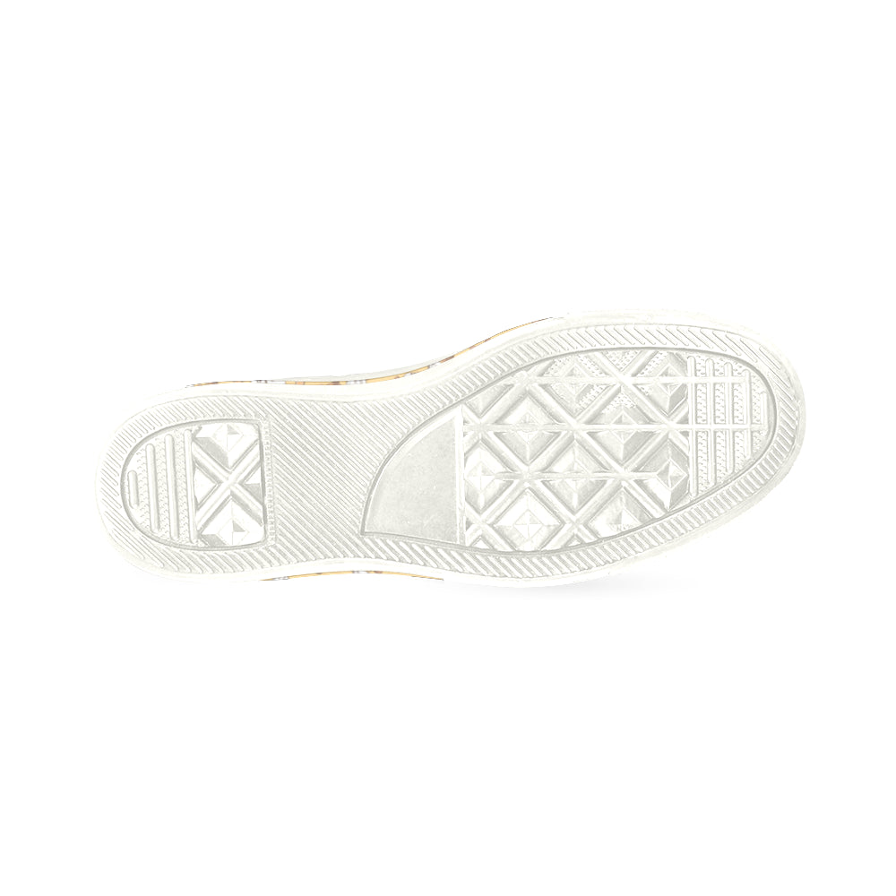 Afghan Hound Pattern White Women's Classic Canvas Shoes - TeeAmazing