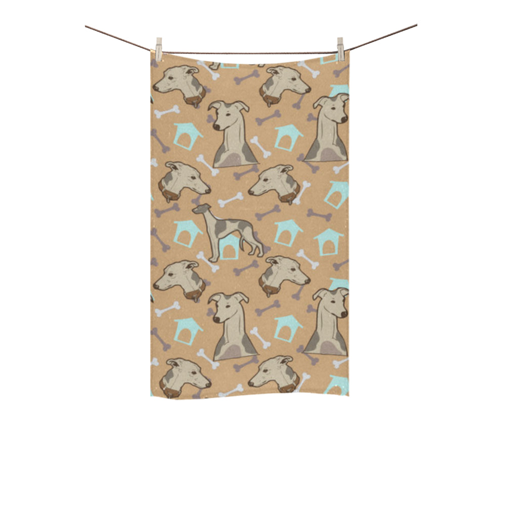 "Whippet Custom Towel 16""x28"" - TeeAmazing"